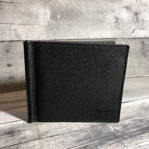 COACH MONEY CLIP BILLFOLD (COACH F23847) BLACK
